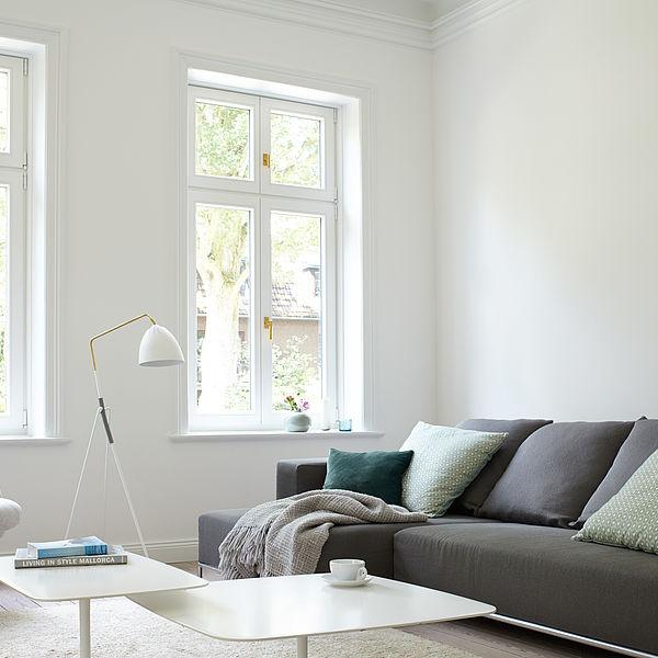 Weiße Wände – klassisch Clean