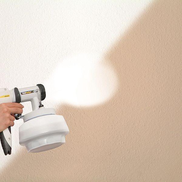 Wandfarbe sprühen statt streichen