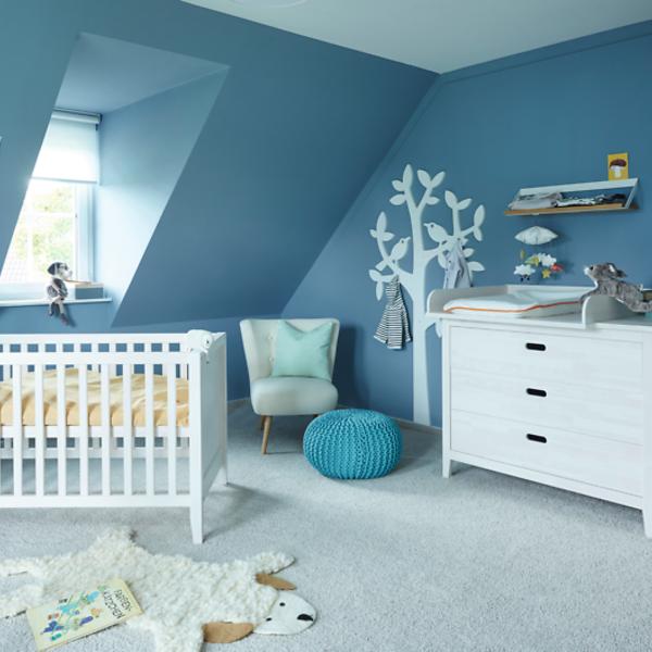 Wandfarben für das Jungen-Babyzimmer – Moderne Farbtipps mit Blautönen