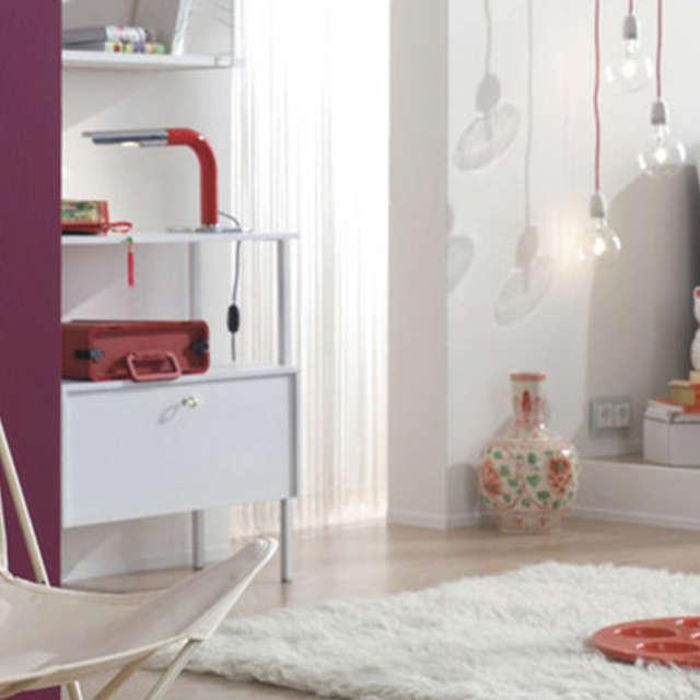 Цветные акценты в белом помещении - Краски Alpina