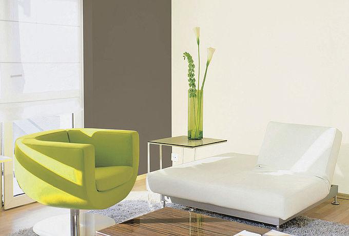 Weiß mit bunten Farben kombinieren - 8 Farbkombinationen für weiße Wandfarbe